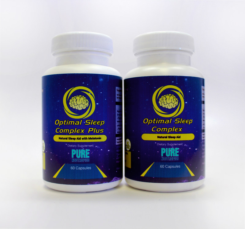 Pure Nootropics Optimal Sleep Complex combines natural ingredients that help you fall asleep faster and promotes a better, more restful sleep.