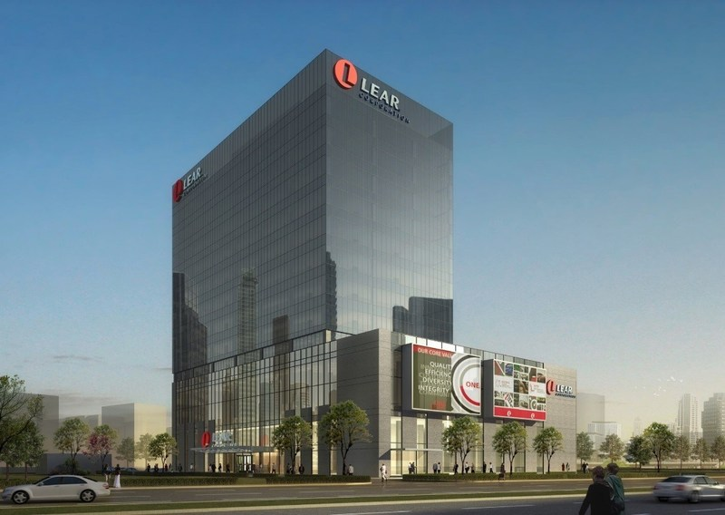 Concept rendering of Lear's Future Asia Headquarters and Technical Center in Shanghai.
