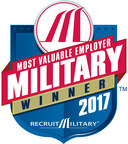 RecruitMilitary Recognizes Level 3 as a 2017 Most Valuable Employer (MVE) for Military® Winner