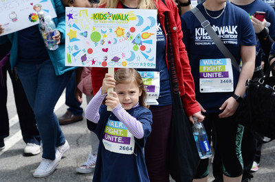 A participant in the annual Kids Walk for Kids with Cancer event shows support for the cause in Central Park in New York on May 6, 2017. Since it was established in 2001, Kids Walk has raised more than $5 million for pediatric cancer research at Memorial Sloan Kettering Cancer Center. Visit www.kidswalkmsk.org to learn more.