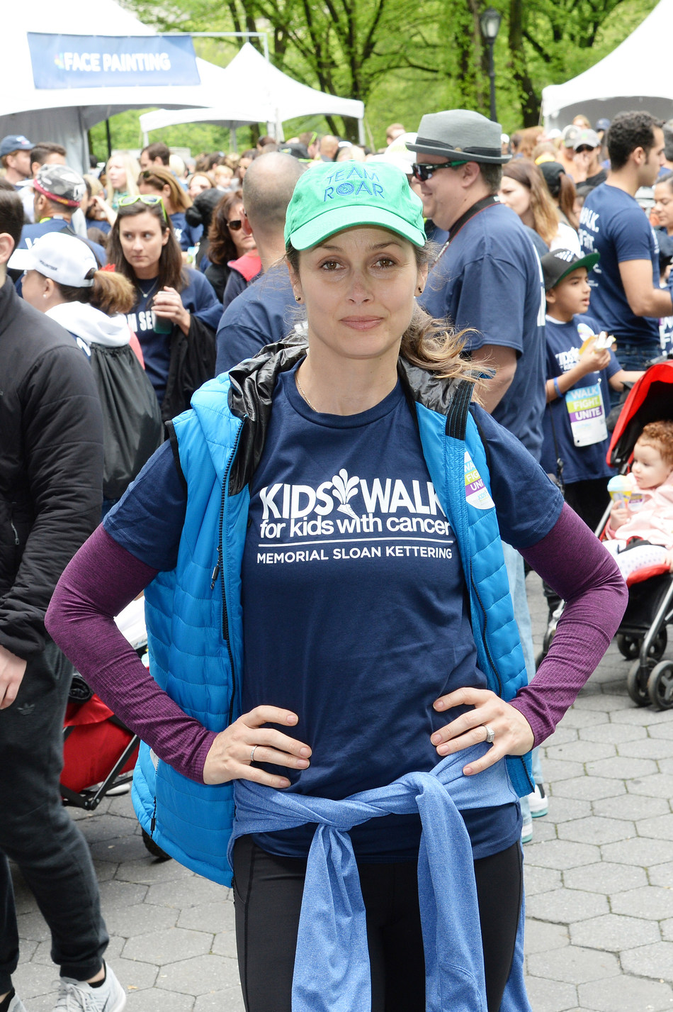 Actress Bridget Moynahan shows her support at the annual Kids Walk for Kids with Cancer event in Central Park in New York on May 6, 2017. Since it was established in 2001, Kids Walk has raised more than $5 million for pediatric cancer research at Memorial Sloan Kettering Cancer Center. Visit www.kidswalkmsk.org to learn more.