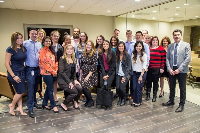 Many members of Siegfried's team in Houston, Texas gathered to celebrate the opening of the new office