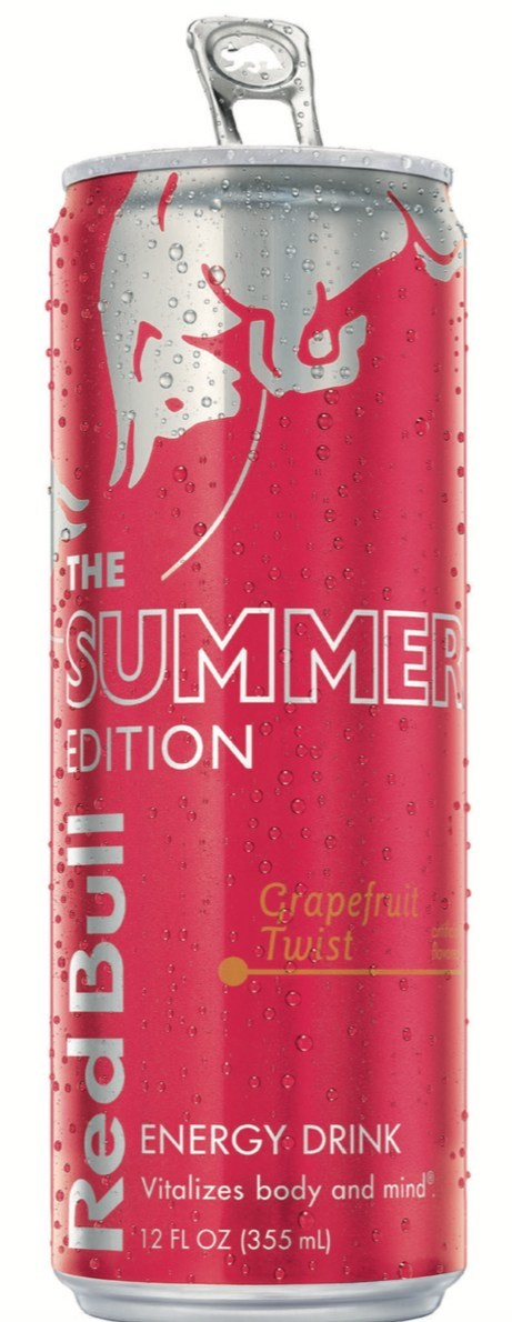 Summer arrives early as Red Bull ® Summer Edition Grapefruit Twist launches nationally, available through Labor Day, offering the Wings of Red Bull with the taste of grapefruit.  The light, summery taste profile will help consumers make the most of their summer. Red Bull is available in more than 165 countries around the world. Last year 6 billion cans were consumed across the globe, with 2 billion of those consumed in the U.S. For more information, visit energydrink-us.redbull.com.