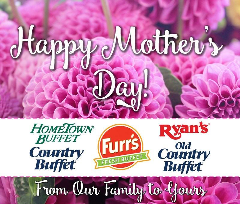 Ovation Brands and Furr's Fresh Buffet are celebrating the special ladies in our lives with their Mother's Day menu on May 14.