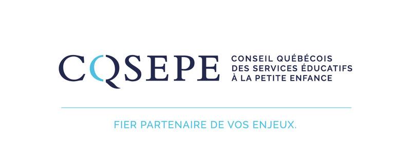 Logo : Conseil québécois des services éducatifs à la petite enfance (Groupe CNW/Conseil québécois des services éducatifs à la petite enfance (CQSEPE))