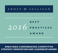 Lifesize Receives 2016 EMEA Video Conferencing Competitive Strategy Innovation and Leadership Award (PRNewsfoto/Frost & Sullivan)