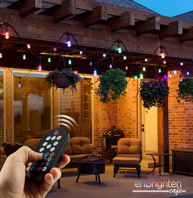 Create over 120 color combinations with Enbrighten Seasons Color Changing Cafe Lights.