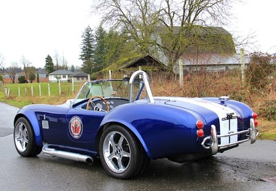 Factory Five 1965 Shelby Cobra to be auctioned for Wounded Warriors Canada at the Luxury & Supercar Weekend in Vancouver on September 9th & 10th. (CNW Group/Wounded Warriors Canada)