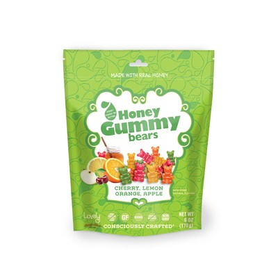 Introducing Lovely's newest candy line, Honey Gummy Bears™. These innovative candies are the first in the industry to have honey as the primary ingredient. Now that's Consciously Crafted®!