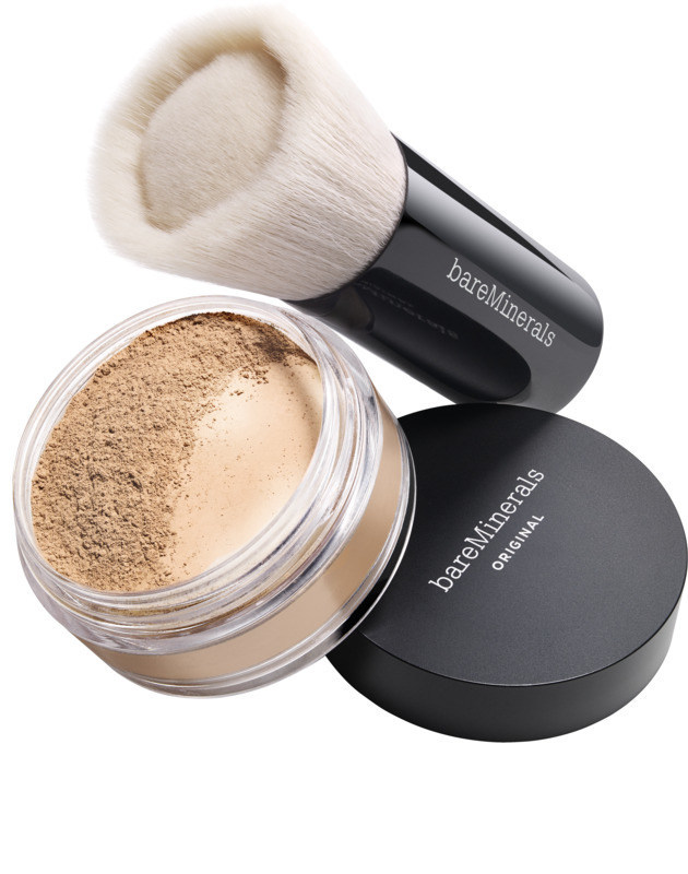 bareMinerals Original Foundation Broad Spectrum SPF 15 and bareMinerals Beautiful Finish Brush