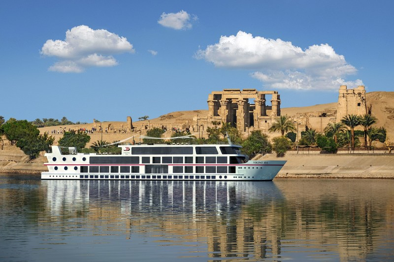 An artist's rendering of the 48-guest all-suite Viking Ra, a new ship design for Viking River Cruises. The ship will begin sailing a new cruisetour on Egypt's Nile River in March 2018. Visit www.vikingrivercruises.com for more information.
