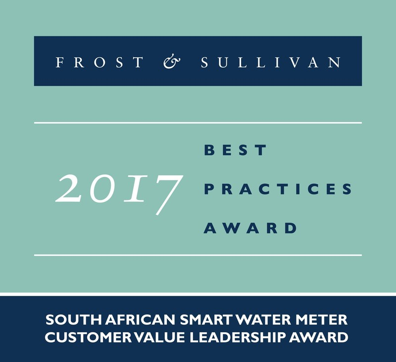 Frost & Sullivan recognises Kamstrup with the 2017 South African Customer Value Leadership Award.