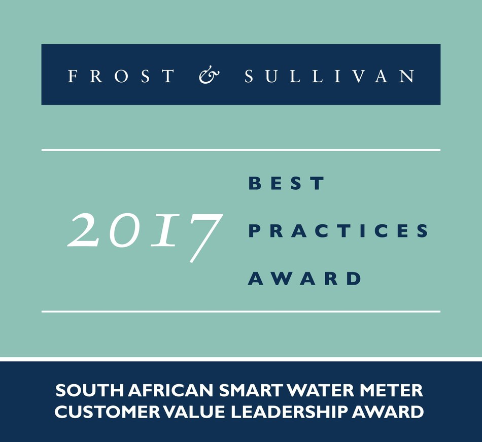 Frost & Sullivan recognises Kamstrup with the 2017 South African Customer Value Leadership Award. (PRNewsfoto/Frost & Sullivan)