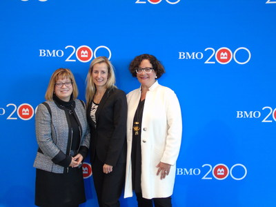 Ruth Liebersbach, Nicole German and Michele Bailey were the local honourees ‎recognized through BMO Celebrating Women in Burlington. (CNW Group/BMO Financial Group)