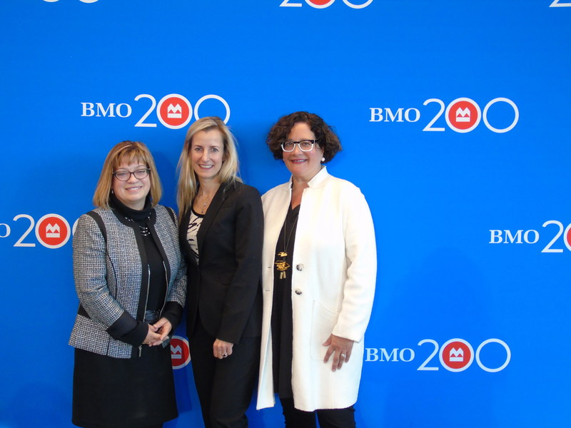 Ruth Liebersbach, Nicole German and Michele Bailey were the local honourees recognized through BMO Celebrating Women in Burlington. (CNW Group/BMO Financial Group)