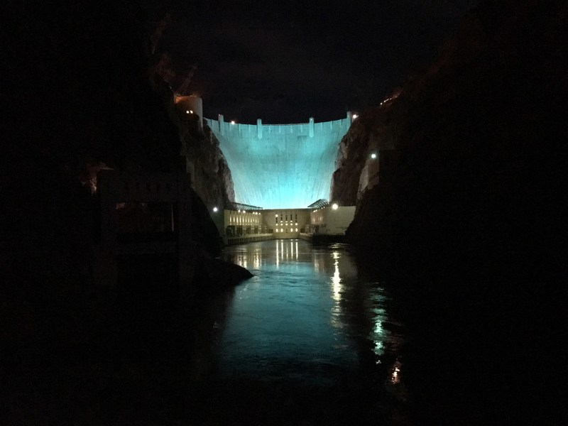 Hoover Dam (NV) Turquoise Takeover Illumination: The Hoover Dam in Nevada illuminates in turquoise to support the American Lung Association's LUNG FORCE initiative.