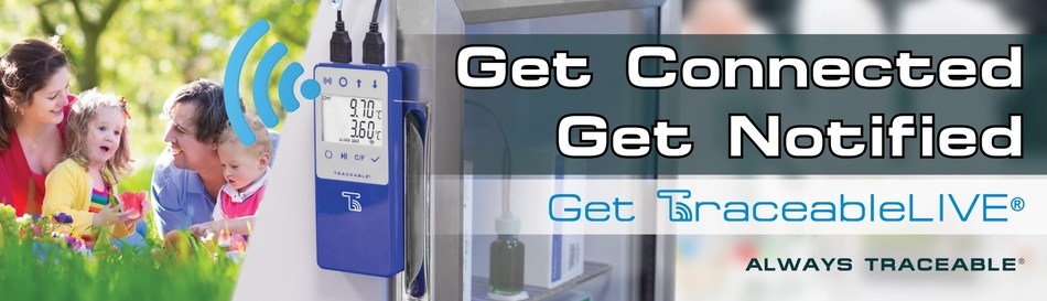 TraceableLIVE® Wi-Fi Datalogging Refrigerator/Freezer Thermometers, Barometers, and Co2 Meters with Remote Notification to monitor your critical environments.