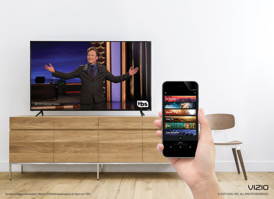 VIZIO SmartCast Mobile Integrates Content from Popular Turner Networks.  TNT, TBS and Cartoon Network First Networks Made Accessible Via VIZIO SmartCast Mobile.