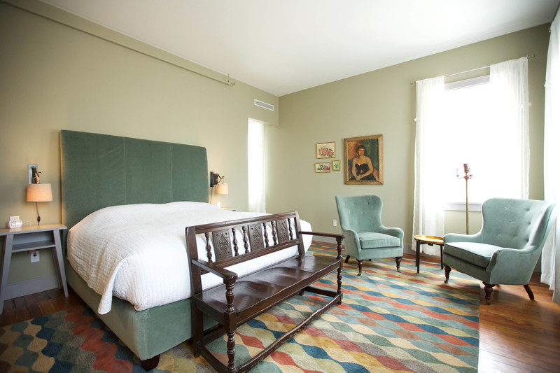 Each one of Hotel of North's rooms have a different footprint, but they all share the spirit of individual design.