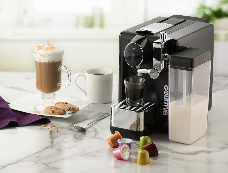 The Gourmia GMC6500 One-Touch Automatic Espresso Cappuccino and Latte Maker is an innovative coffee system perfect for mom.