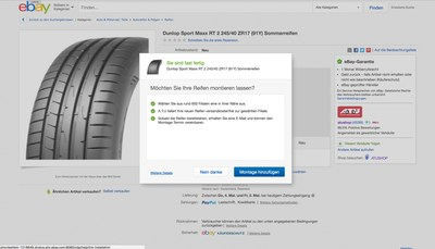 eBay Motors announces tire installation services in Germany this month; coming to the U.S. this summer.