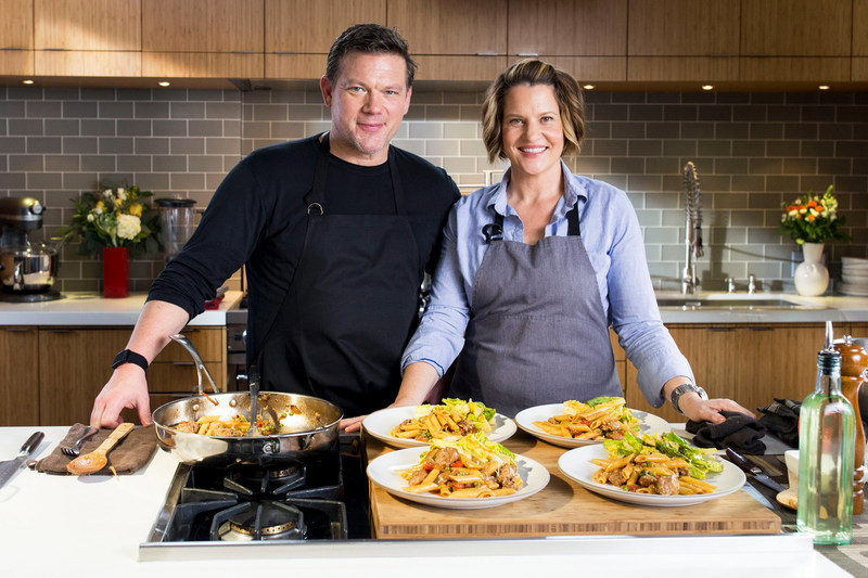 Sun Basket's Executive Chef and Co-Founder Justine Kelly and Food Network's Chef Tyler Florence