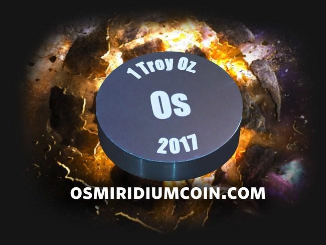 Osmiridium Coin Develops New Extreme Density Uncouterfeitable Platinum Group Metal Coins