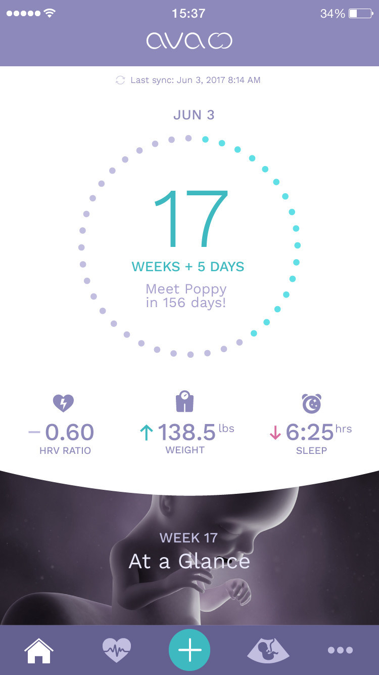 Ava's app will now enable users to track their health through pregnancy
