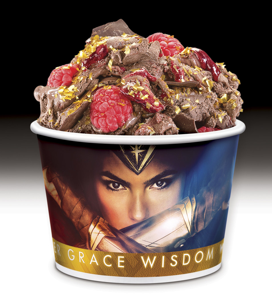 Cold Stone Creamery announces special release of Wonder Woman-inspired treats, in honor of its partnership with Warner Bros. Pictures.