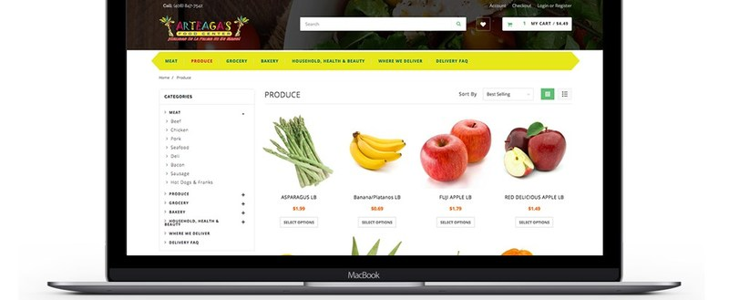 Grocer's online store powered by Pathover technologies