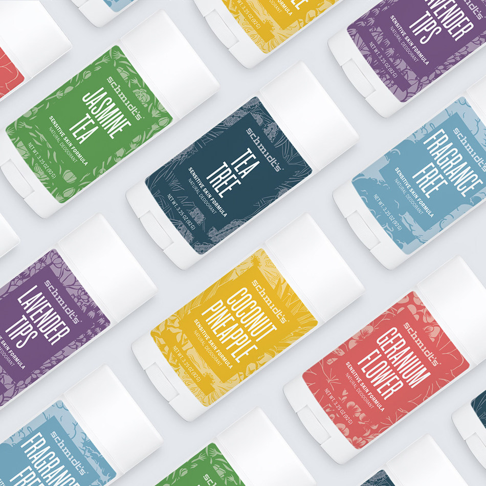 Schmidt's Naturals launches three new scents for its Sensitive Skin deodorant line – Coconut Pineapple, Jasmine Tea, and Lavender Tips