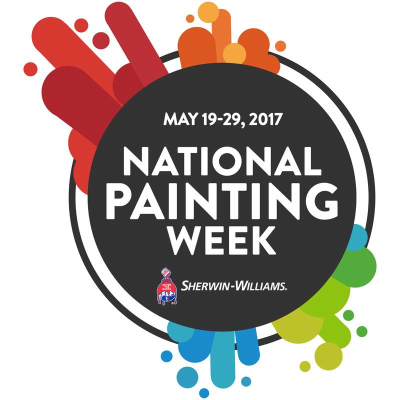 Sherwin-Williams National Painting Week, May 19-29, 2017
