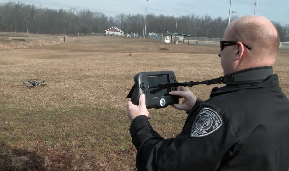Somerset County, New Jersey, is first sheriff's office in the country to use the Project Lifesaver Indago unmanned aerial system (UAS). Deputies participated in training on the system earlier this year. Somerset County has 40 clients enrolled in Project Lifesaver: 23 children who have autism or Down syndrome and 17 adults who have dementia. Photo courtesy Lockheed Martin.
