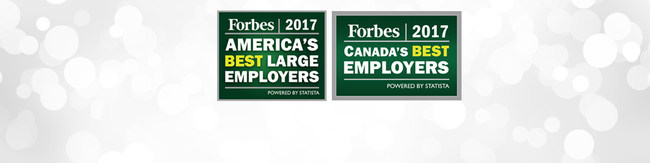 Based on direct employee feedback, Magna has been selected to the Forbes magazine lists of America's Best Employers and Canada's Best Employers for 2017. (CNW Group/Magna International of America Inc.)
