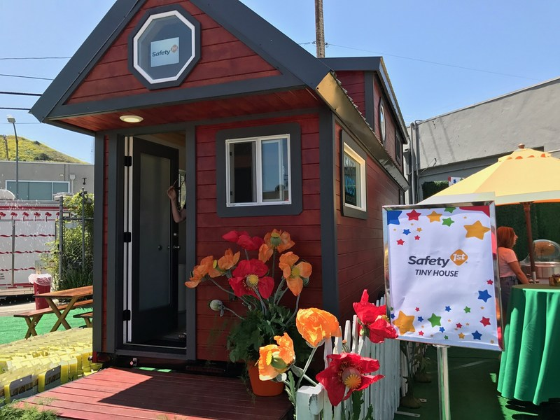 The Safety 1st Tiny House is outfitted to demonstrate the importance of keeping children safe at home by allowing attendees to learn about hidden dangers in the home and how Safety 1st products safeguard against them.