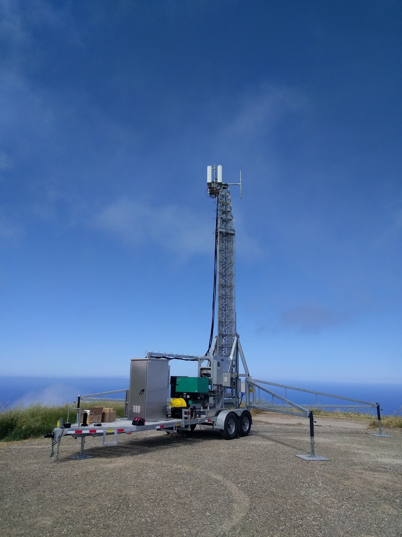 A General Dynamics Mission Systems engineering team successfully streamed video 62 miles between two tactical antennas on April 20 during the Marine Corps-sponsored Ship-to-Shore Maneuver, Exploration and Experimentation (S2ME2) Task Force Demonstration at Camp Pendleton. The mobile tower on San Clemente consisted of a telescoping mast, diesel generator, high-definition IP video camera, an eNodeB base station radio and antenna pair deployed with a virtualized core network.