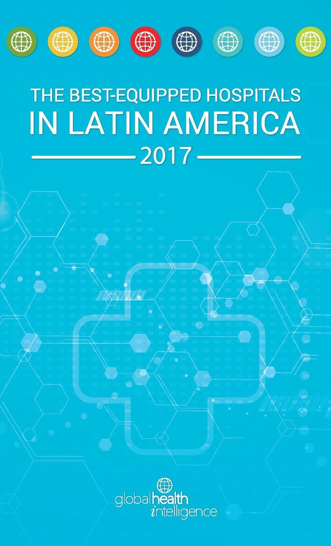 Cover of Global Health Intelligence ranking report of the best-equipped hospitals in Latin America