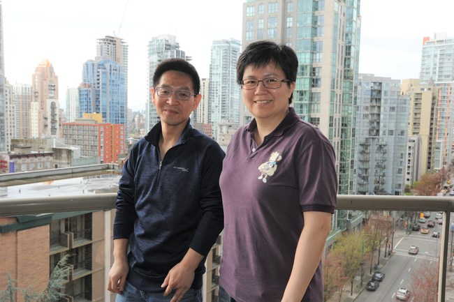 Blue Ice Cloud Director Billy Liu and Istuary VP of Engineering Jean Su say Blue Ice Cloud is years ahead of other IoT platforms because it uses AI and machine learning. Photo by Christine Endicott