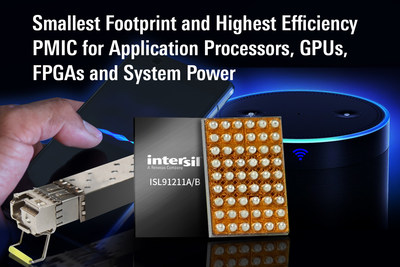 Intersil's highly integrated ISL91211 PMIC enables high efficiency and 40% smaller solution size for smartphones, tablet computers, solid-state drives, networking and wireless Internet of Things (IoT) devices powered by single-cell Lithium-ion (Li-on) batteries, or 2.5V – 5.5V power supplies.