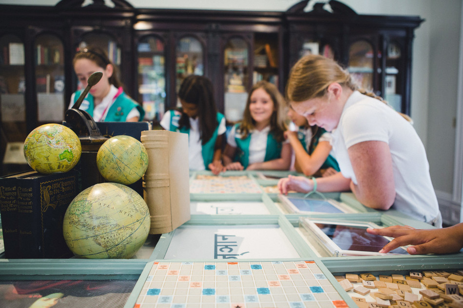 Girl Scouts explore worlds of possibility at the Juliette Gordon Low Birthplace ReImagined Library.  Copyright Girl Scouts of the USA.  All Rights Reserved.