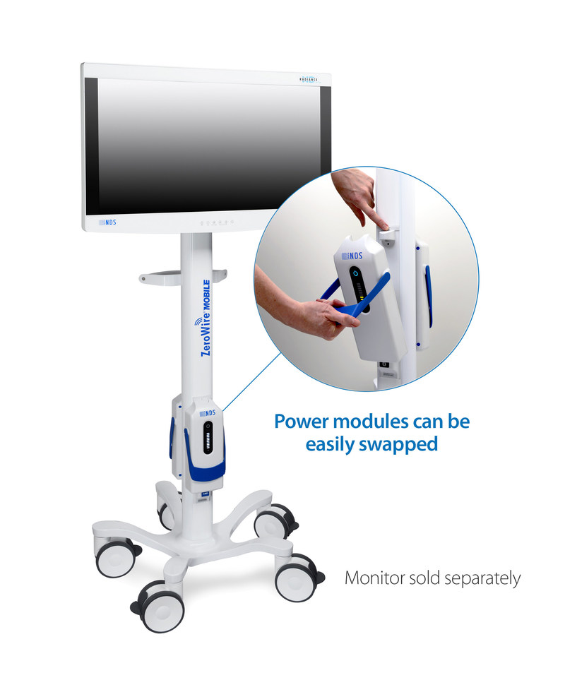 ZeroWire Mobile cordless display stand from NDS