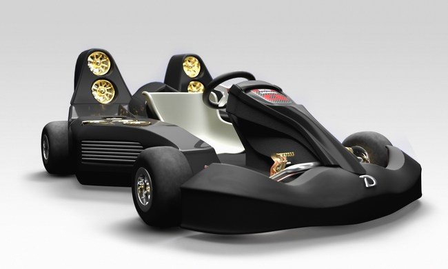 The Daymak C5 Blast Go-Kart will feature 12 EDF Motors, 10 kWh Engine and a 2500Wh Panasonic Lithium Battery Pack