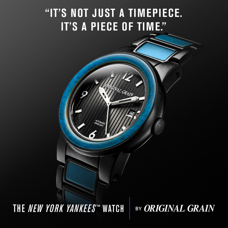 The New York Yankees Watch by Original Grain. Made with reclaimed 1923 Yankee Stadium™ Wooden Seats