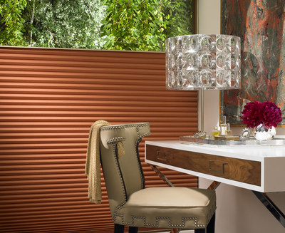 Our Pirouette® shadings feature soft fabric vanes attached to a sheer backing that appear to be floating, drawing natural light into your room. When closed, they look just like a contemporary shade (CNW Group/Hunter Douglas)