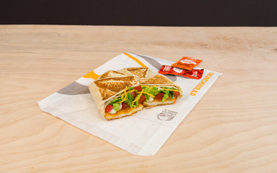 Taco Bell is also launching the Chickstar, a twist on the Crunchwrap but with Naked Chicken Chips as the real star, nationwide today. The Chickstar also includes avocado ranch, shredded cheddar cheese, lettuce and diced tomatoes, wrapped and grilled in a flour tortilla.