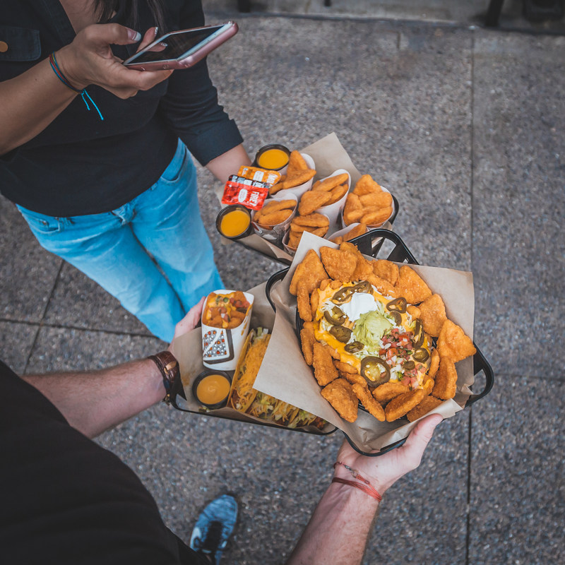 Like its predecessor, the Naked Chicken Chalupa, Naked Chicken Chips are made of marinated, all-white-meat chicken kicked up with bold Mexican spices and seasoning. Unlike its predecessor, Naked Chicken Chips are paired with Taco Bell's beloved Nacho Cheese sauce.  Photo Credit: FOODBEAST / @eric_scire