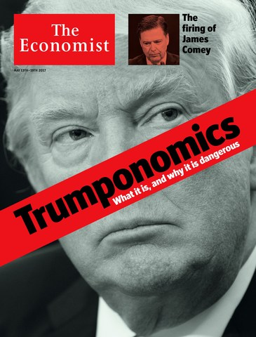 The Economist 'Trumponomics Cover' and interview with 45th President of the United States of America. Edition: 11/05/2017