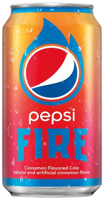 "Pepsi launches limited-edition cinnamon flavored cola, Pepsi Fire, with their summer ""Get It While It's Hot"" campaign."