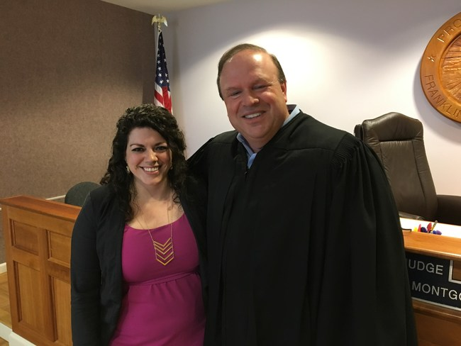 CPM Attorney, Brittany Pace with Franklin County Probate Judge, The Honorable Robert Montgomery