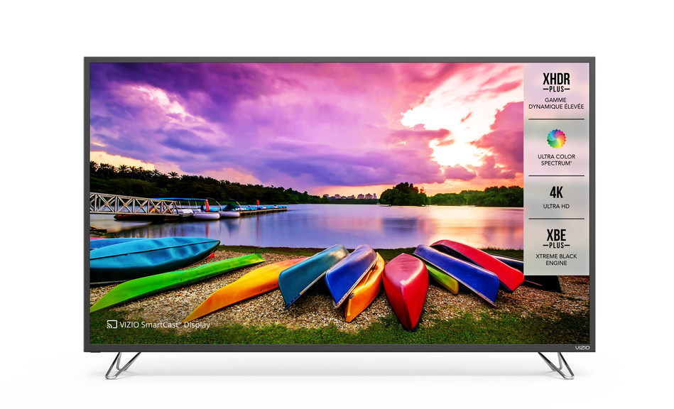 All-New VIZIO SmartCast M-Series Ultra HD HDR XLED Plus Display Collection Debuts in Canada, Pushing the Boundaries of Picture Quality with Ultra Color Spectrum Performance. VIZIO's Latest Lineup Features an Enhanced Smart TV User Experience with SmartCast Mobile Available Now and VIZIO SmartCast TV Coming Summer 2017.